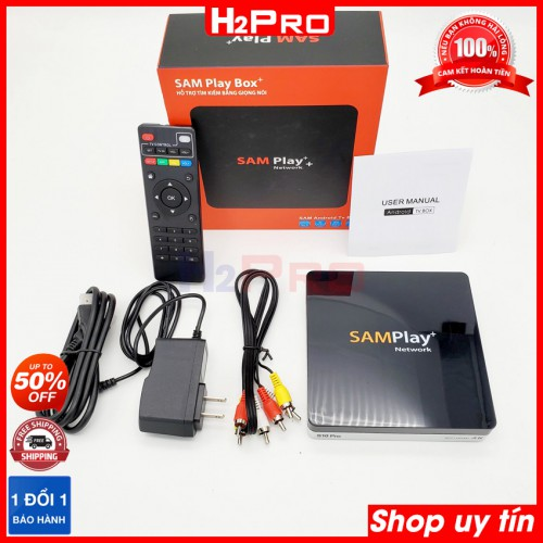 Tv box android SamPlay+ S10 Pro 4K, ram 2G-rom 16G, rockchip 3229, android 7.1